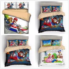 details about super mario odyssey 3d world mario koopa duvet cover kids bedding set pillowcase