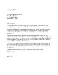 Sample Dental Assistant Cover Letter Examples Dental Assistant Cover