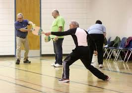 the clinic brought in instructors from the saskatchewan senior fitness ociation and sask pickleball