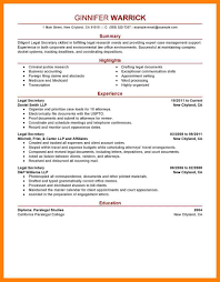 7 Legal Assistant Resume Samples Writing A Memo