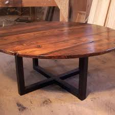 large round wood kitchen tables a hand crafted large round coffee table with industrial metal