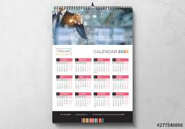 Photoshop Calendar Template 2020 Calendar 2020 Layout With Colorful Design Elements Buy This