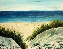beach painting beach sand dunes acrylic painting by mccrea