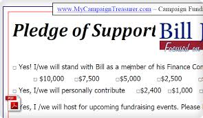 Fundraiser Pledge Form Template Sample Pledge Forms For Fundraising