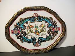 Daher Decorated Ware Tray Made In England Unique Vintage Daher Decorated Ware Metal Fruit Serving Tray English Etsy