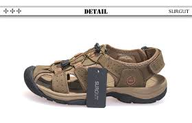 SURGUT Brand Genuine Leather Shoes <b>Summer New</b> Large Size ...