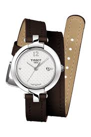image of tissot women s pinky leather wrap watch 27 95mm