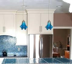 cobalt blue pendant lights turquoise med kitchen island by glass fusions via navy light drum lighting blue pendant light shade lovely modern fixtures