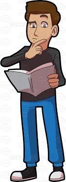 man reading a book clipart