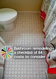 bathroom remodeling checklist bathroom remodeling a checklist of 84 costs to consider retro