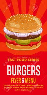 Flyer Design Food Burger Menu Flyer Design Template Template Flyer For Fast Food