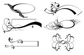 scroll clipart simple vector