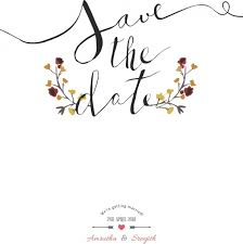 Save The Date Images Free Save The Date Water Color Vector Trust To Nature Free Vector