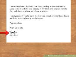 Holiday Request Form New How To Write A Leave Of Absence Letter With Pictures WikiHow