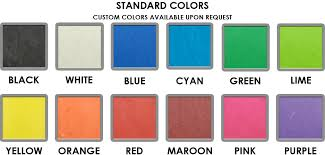 O Ring Colour Chart Stationery Rubber Bands Many In Stock Sizes Colors Bulk