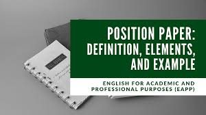 Let us take you through its writing guide. Position Paper Definition Elements And Example