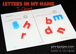Chart Paper For Kindergarten Name Activities For Preschool