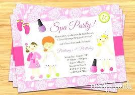 Kids Birthday Invitations Description Invite Friends To A Spa Party