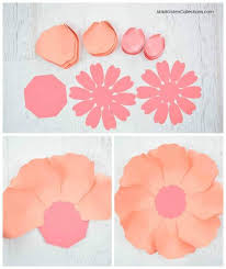 Peony Paper Flower How To Make Large Paper Peonies Templates And Tutorial
