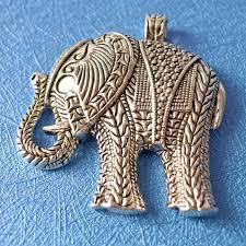 large antique silver elephant pendant from miniperlasupplies on studio