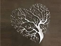 large metal heart wall art