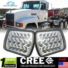 mack ch motors pair mack semi truck head light ch600 ch700 series 7x6 cree headlamp headlights fits