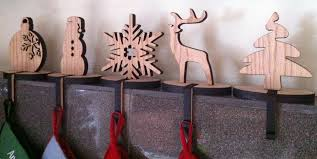 wooden christmas stocking holders for mantle for home decoration ideas