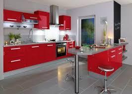 Idée Relooking Cuisine Intérieur Rouge Et Blanc Déco Cuisine Rouge