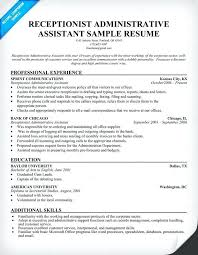 Resume Template For Administrative Assistant Amazing Cv Template For Admin Assistant Flybymediaco