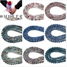 OMH <b>Wholesale</b> 4 6 8 10 MM <b>Stone Agates</b> Crystal Jades Tiger Eye ...