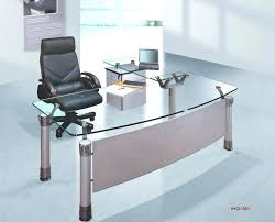 modern desk office. Contemporary Glass Office Desk Spacious Furniture Design With Modern Equipped Tops On . T