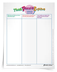 unit organizer routine template headlines thinking routine a professional development series