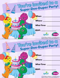 barney party invitation template 97 best barney crafts and everything images on pinterest barney
