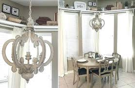 distressed white wood orb chandelier pendant light and iron