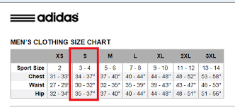 Adidas Jogging Bottoms Size Guide