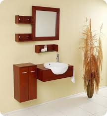 fresca stile modern bathroom vanity w mirror side cabinet