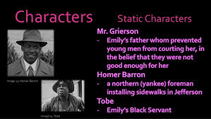 a rose for emily summary analysis context southern gothic litera  characters other static characters