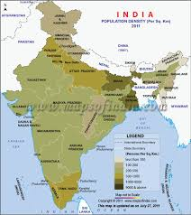 Population Chart Of Indian States Population Density India Census 2011
