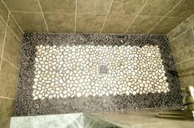 river rock shower floor tile in problems diy