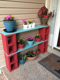 cinder block plant stand these are awesome garden diy yard ideas