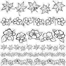 和花 和風ライン 紅葉 桜 椿 イラスト素材 4385965 フォトライブ