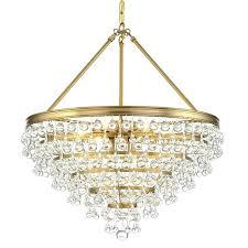gold chandelier calypso 8 light crystal teardrop vibrant gold chandelier
