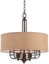 vintage bronze drum shade chandelier