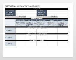 training plan template word free employee performance review templates smartsheet