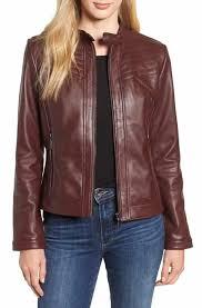 reduce bernardo stitched leather jacket