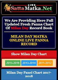 Satta Matka Milan Day Panna Chart Milan Chart
