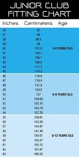 Junior Package Size Chart Golf Warehouse Nz