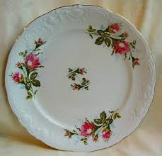 Rose Pattern China Simple Moss Rose China Replacement At Robbins Nest