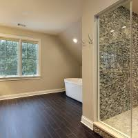 bathroom remodeling chicago il. Remodeling Chicago Suburbs Master Bathroom With Custom Tile, Dark Hardwood Floors, And Floating Tub Il O