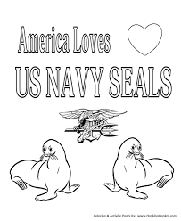 Armed Forces Day Coloring Pages Usa Loves Navy Seals Coloring Page